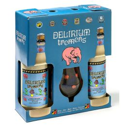 Box Delirium Tremens 2 Bottles + Glass