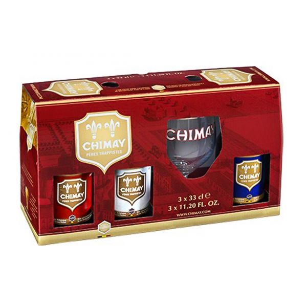 Box Chimay 6 Bottles + Glass