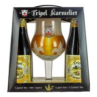 Box Tripel Karmeliet 4 Bottles + Glass
