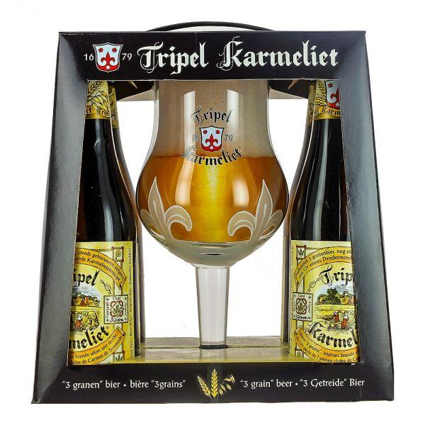Estuche Tripel Karmeliet 4 Botellas + Copa
