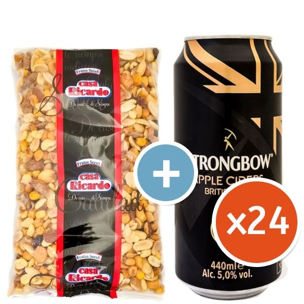 Strongbow Survival Pack with Free Nuts
