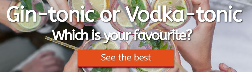 The best Gintonic and Vodkatonic
