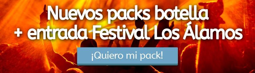 Nuevos packs botella + entrada Festival Los Álamos
