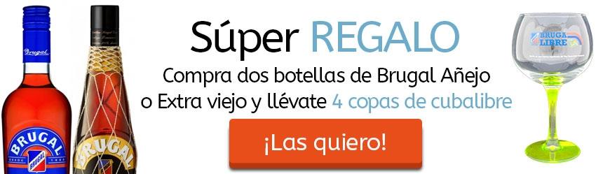 Por la compra de 2 botellas de 70 cl. de Brugal Añejo o Extra Viejo te llevas 4 Copas de REGALO!!!