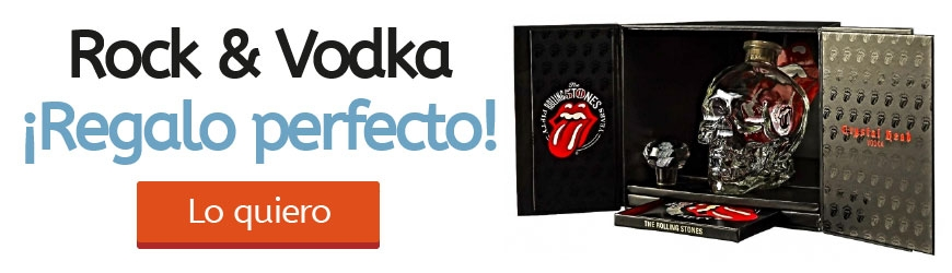 ¡Vodka Crystal Head Rolling Stones en Oferta!