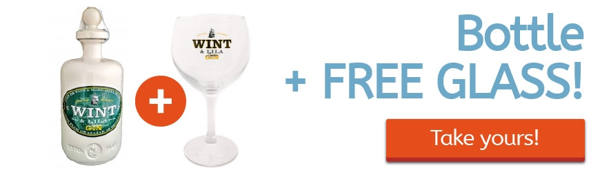 Buying bottle of Wint & Lila Dry or Strawberry Gin, get a Free Wint & Lila Glass