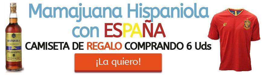 Mamajuana Hispaniola con ESPAÑA. Camiseta de REGALO comprando 6 Unidades