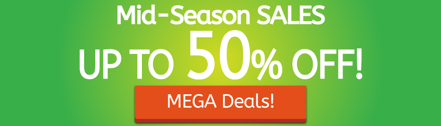 Mid-Season SALES. Up to 50% Off!