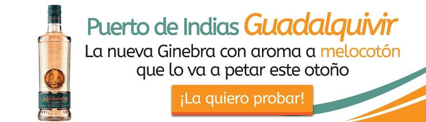 Nuevo Gin Puerto de Indias Guadalquivir Melocotón