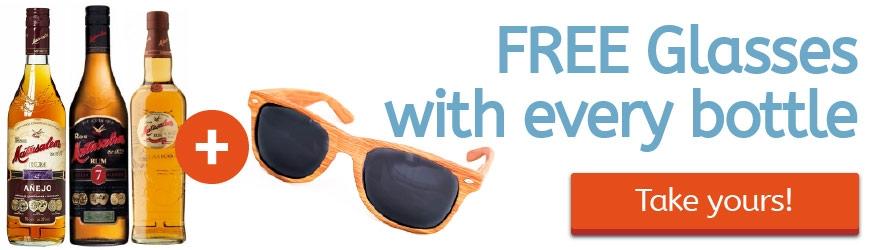 With every bottle of Matusalem, FREE sunglasses